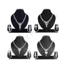 Atasi International Alloy Jewel Set  (White)