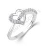 Vighnaharta Valentine Alloy Cubic Zirconia 18K White Gold Ring